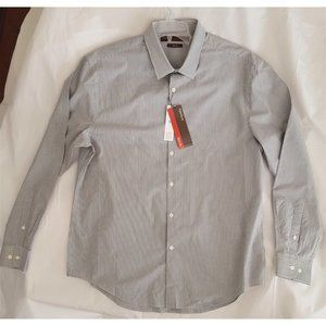 Perry Ellis - Slim Fit Shirt - Grey/White - XL
